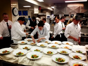 The entire culinary crew were chefs from various restaurants